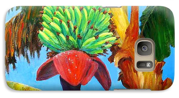 Galaxy Case featuring the painting Green Bananas by Cheryl Del Toro