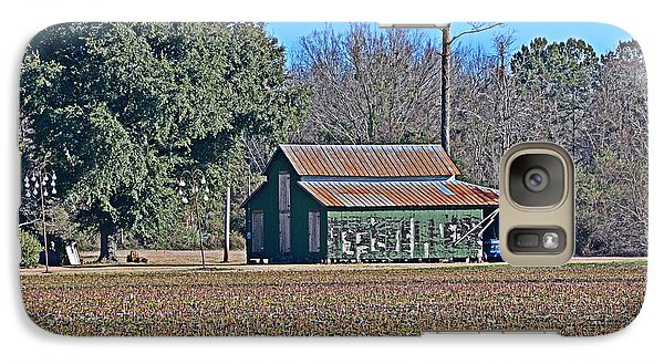 Galaxy Case featuring the photograph Green Barn by Linda Brown