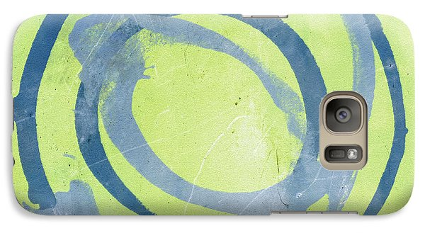 Galaxy Case featuring the painting Green Blue by Julie Niemela
