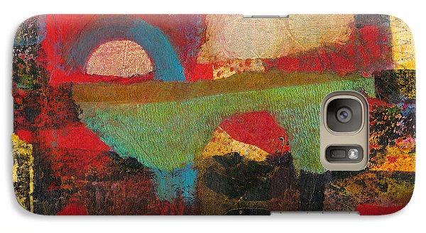 Galaxy Case featuring the mixed media Green Bridge by Catherine Redmayne