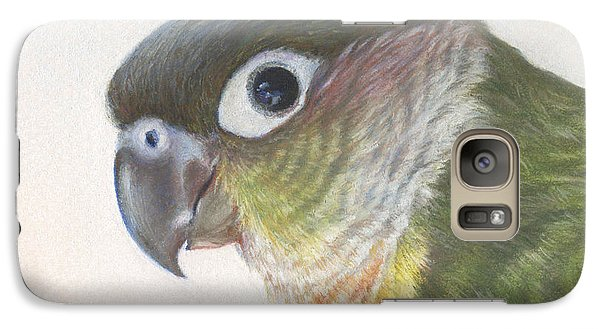 Galaxy Case featuring the drawing Green Conure by Natasha Denger