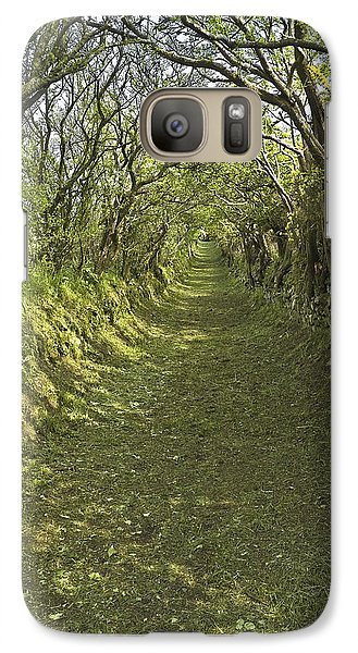 Galaxy Case featuring the photograph Green Country Lane by Jane McIlroy