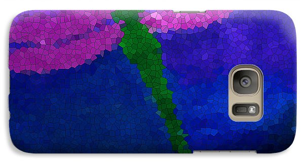 Galaxy Case featuring the painting Green Dragonfly by Anita Lewis