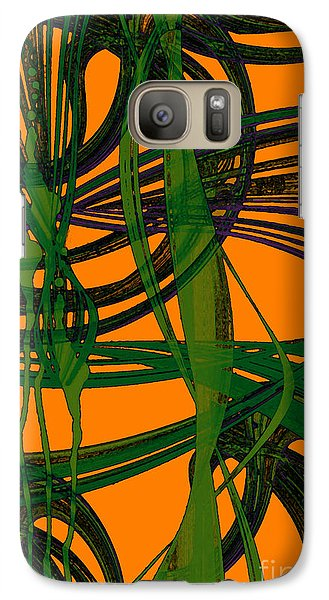 Galaxy Case featuring the digital art Green Excitement by Hanza Turgul