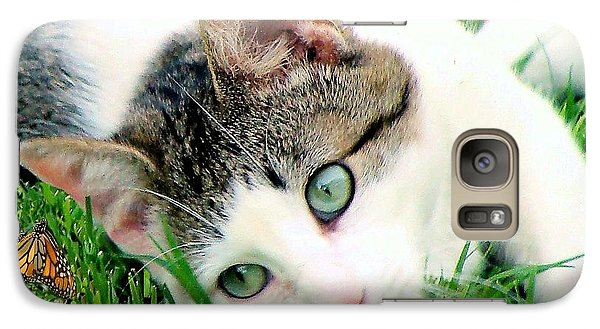 Galaxy Case featuring the photograph Green Eyed Cat by Janette Boyd
