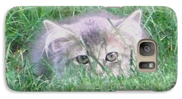 Galaxy Case featuring the photograph Green Eyes by Gena Weiser
