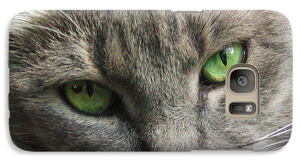 Galaxy Case featuring the photograph Green Eyes by Leigh Anne Meeks