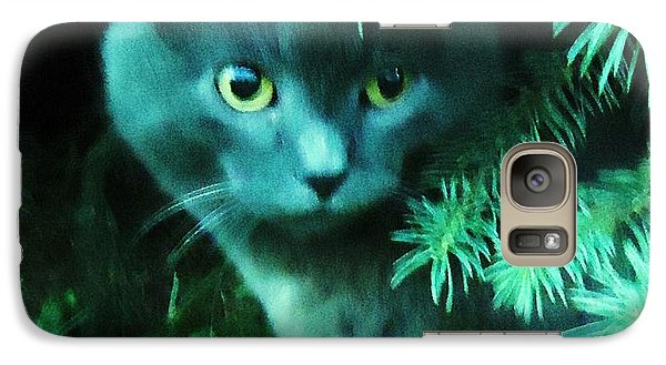 Galaxy Case featuring the photograph Green Eyes by Leslie Manley