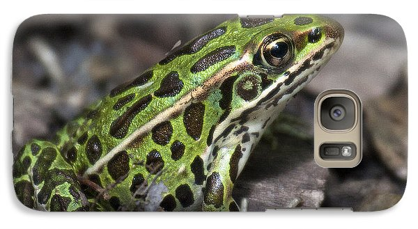 Galaxy Case featuring the photograph Green Frog by Timothy McIntyre