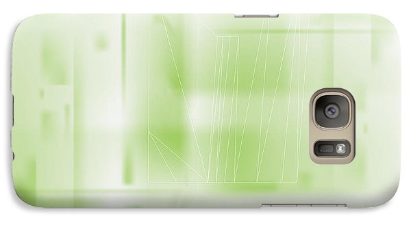 Galaxy Case featuring the digital art Green Ghost City by Kevin McLaughlin