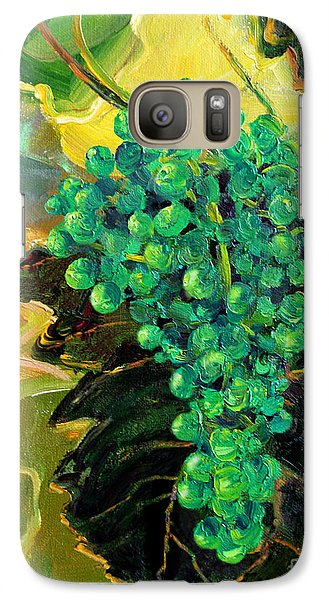 Galaxy Case featuring the painting Green Grapes by Cheryl Del Toro
