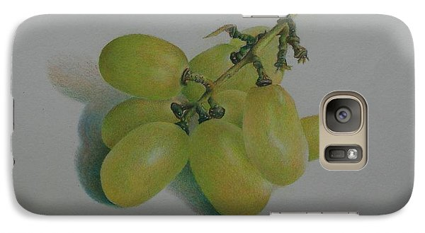 Galaxy Case featuring the painting Green Grapes by Pamela Clements