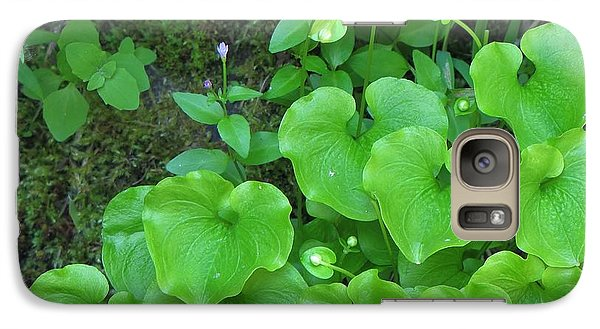 Galaxy Case featuring the photograph Green Growing Hearts by Michele Penner