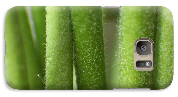 Galaxy Case featuring the photograph Green Hairy Stems Abstract by Eden Baed