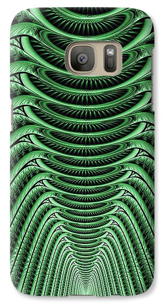 Galaxy Case featuring the digital art Green Hall by Anastasiya Malakhova
