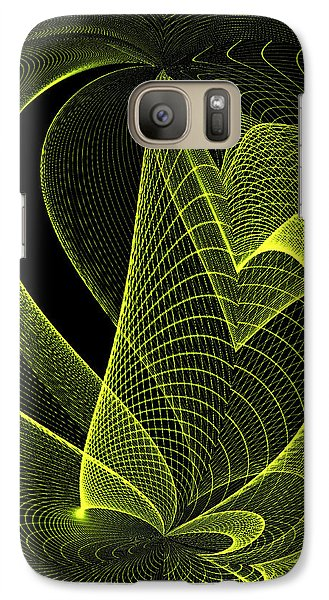 Galaxy Case featuring the digital art Green by Judy  Johnson