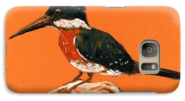 Green Kingfisher Galaxy Case by Juan  Bosco