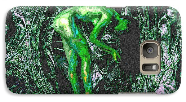 Galaxy Case featuring the painting Gaia Earthly Goddess Nymph Farie Mother Earth Fine Art Print by David Mckinney