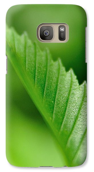 Galaxy Case featuring the pyrography Green Leaf 002 by Todd Soderstrom