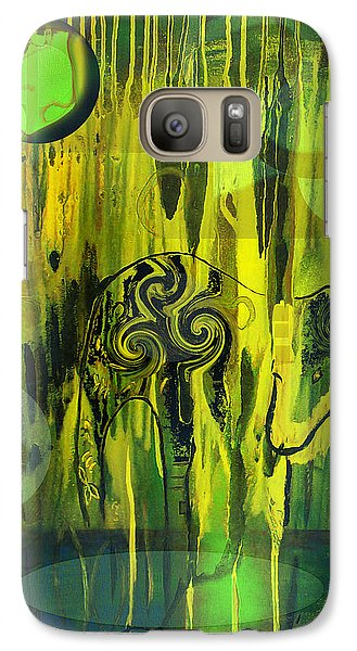 Galaxy Case featuring the painting Green Light by Yul Olaivar