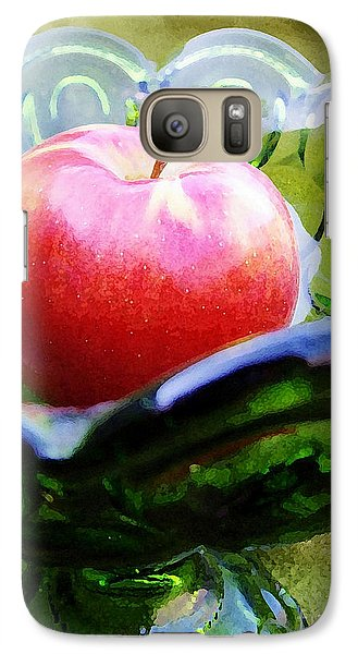 Galaxy Case featuring the photograph Green Moon And Stars Glassware by Kathi Mirto