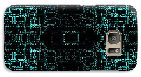Galaxy Case featuring the digital art Green Network by Anita Lewis