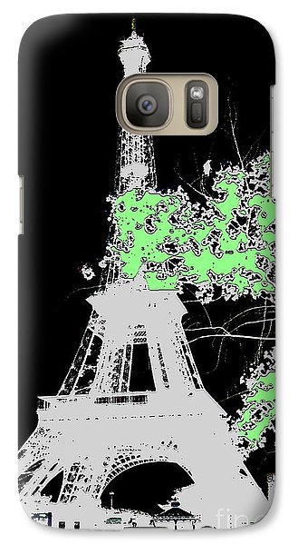 Galaxy Case featuring the photograph green Paris green by Yury Bashkin