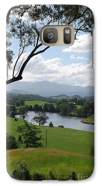 Galaxy Case featuring the photograph Green Pastures by Ankya Klay