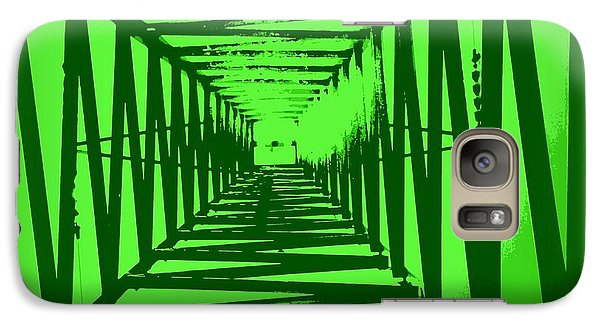Galaxy Case featuring the photograph Green Perspective by Clare Bevan