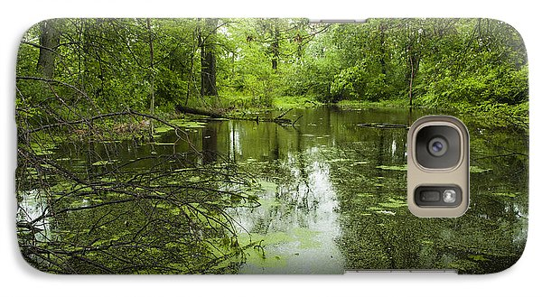 Galaxy Case featuring the photograph Green Blossoms On Pond by Jerry Cowart