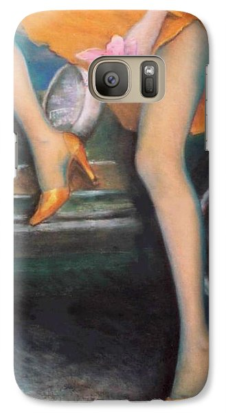 Galaxy Case featuring the pastel Green Porsche by Mary Ann  Leitch
