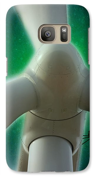 Galaxy Case featuring the photograph Green Power by WB Johnston