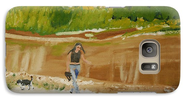 Galaxy Case featuring the painting Green River Dinosaur National Park by Leslie Byrne