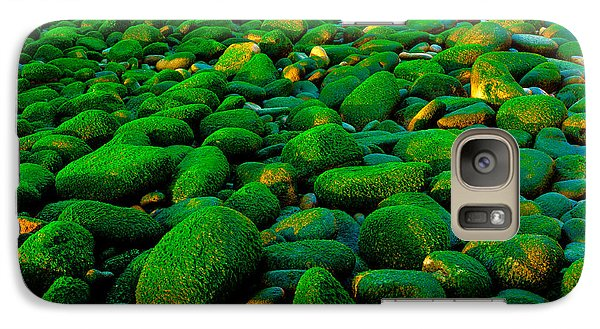 Galaxy Case featuring the photograph Green Rock by Edgar Laureano