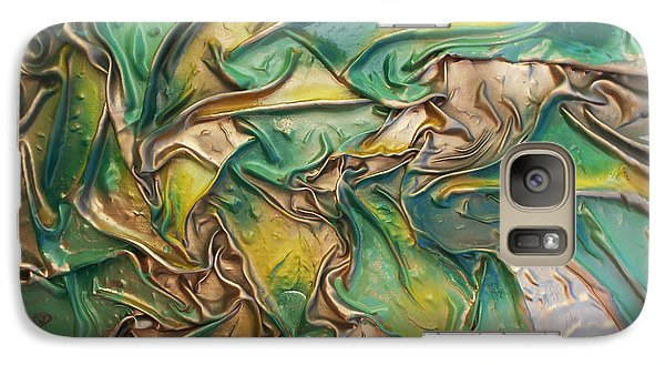 Galaxy Case featuring the mixed media Green Roots by Angela Stout
