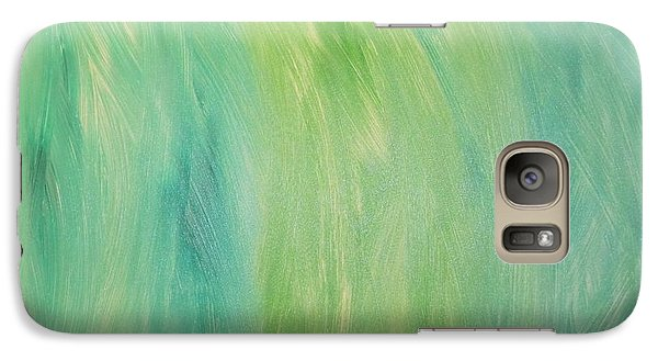 Galaxy Case featuring the painting Green Shades by Barbara Yearty