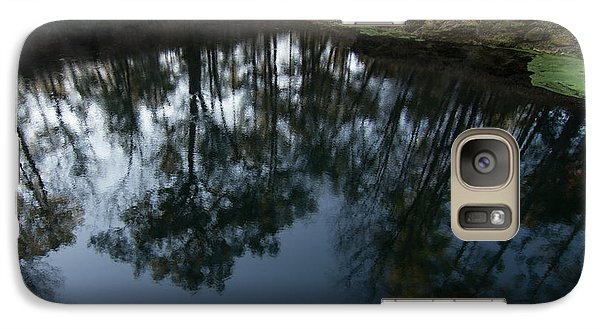 Galaxy Case featuring the photograph Green Sink Reflection by Paul Rebmann