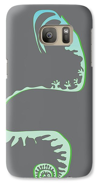 Galaxy Case featuring the digital art Green Spiral Evolution by Kevin McLaughlin