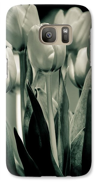 Galaxy Case featuring the photograph Green Toned Tulip by Craig Perry-Ollila
