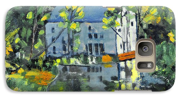 Galaxy Case featuring the painting Green Township Mill House by Michael Daniels