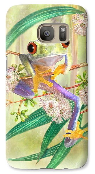 Galaxy Case featuring the digital art Green Tree Frog by Trudi Simmonds