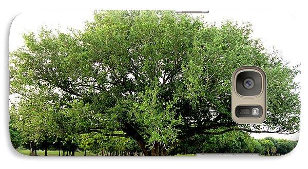 Galaxy Case featuring the photograph Green Tree by Oksana Semenchenko