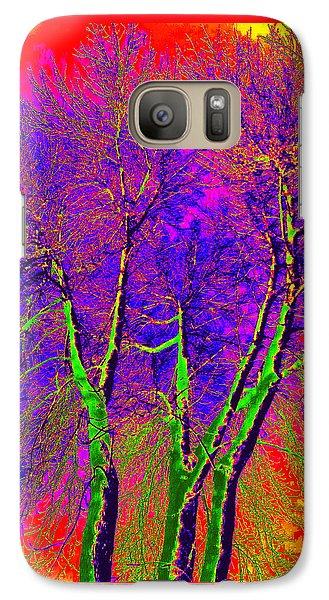 Galaxy Case featuring the photograph Green Trees by Jodie Marie Anne Richardson Traugott          aka jm-ART
