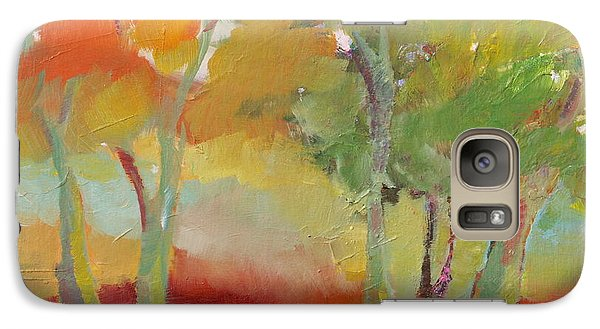 Galaxy Case featuring the painting Green Trees by Michelle Abrams