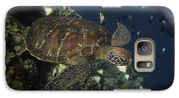 Galaxy Case featuring the photograph Hawksbill Turtle by Sergey Lukashin