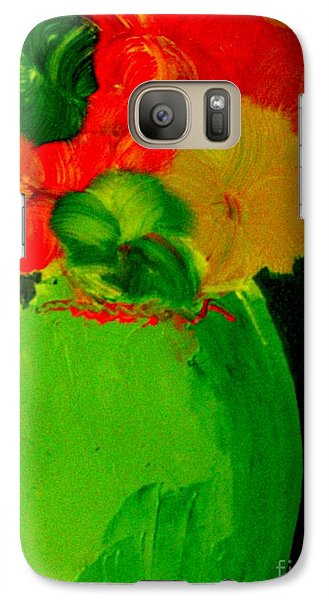 Galaxy Case featuring the painting Green Vase 22 by Bill OConnor