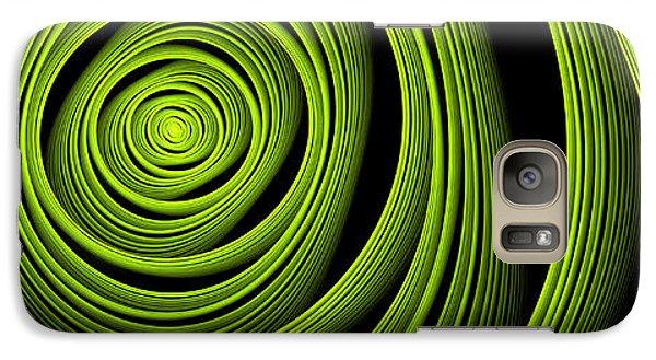 Galaxy Case featuring the digital art Green Wellness by Gabiw Art