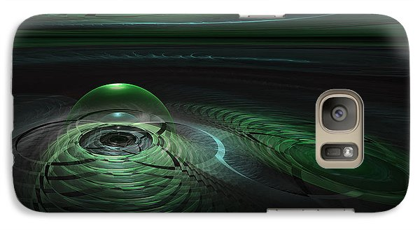 Galaxy Case featuring the digital art Greenland Outpost by GJ Blackman