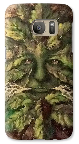 Galaxy Case featuring the painting Greenman by Megan Walsh