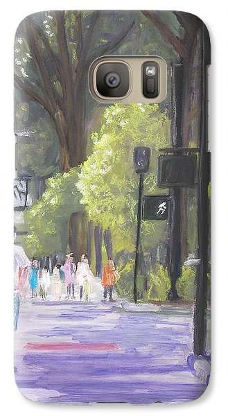 Galaxy Case featuring the pastel Greenville Street Scene by Robert Decker